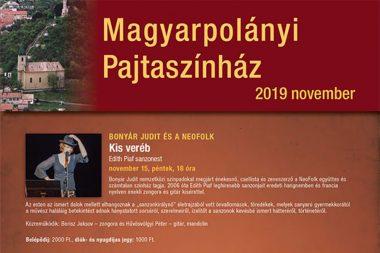 Edith Piaf sanzonest Magyarpolányi Pajtaszínház
